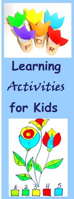 Simple and Frugal Kids Learning Activities - Cheer and Cherry Educational Activities For Kids, Craft Activities For Kids, Hands On Activities, Diy Arts And Crafts, Fun Crafts, Crafts For Kids, Paper Crafts, Play Based Learning, Art For Kids