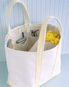 Sew one up for the swimming bag! Tote Organizer Instructions