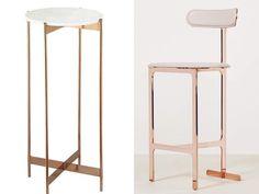Image result for yabu pushelberg rose gold bar stool