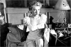 """Anne Baxter in """"The Blue Gardenia directed by Fritz Lang, 1953 Anne Baxter, Fritz Lang, Damsel In Distress, The Villain, Belle Epoque, Cinema, Ruffle Blouse, The Incredibles, Actresses"""
