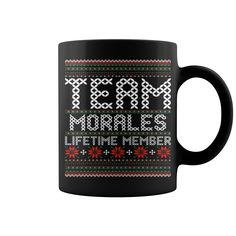 Team Morales Lifetime Member Ugly Christmas mug