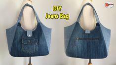 Denim Bag Tutorial, Diy Bags Tutorial, Denim Tote Bags, Denim Purse, Old Jeans Recycle, Camisa Vintage, Kim Kardashian, Jean Purses, Diy Bags Purses