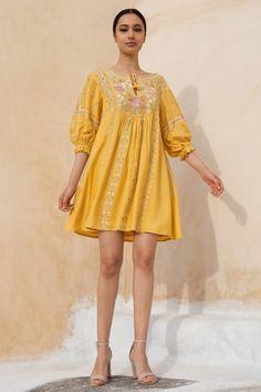 Designer Dresses - Buy Thera Dress for Women Online - SS20MB170 - Anita Dongre Simple Dresses, Elegant Dresses, Beautiful Dresses, Casual Dresses, Dresses Dresses, Dress Indian Style, Indian Dresses, Indian Wear, Indian Wedding Outfits
