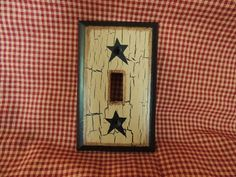 crackle light switch | Primitive Decor HP Light Switch Plate Cover Black Star Crackle Country ...