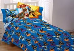 Skylanders Giants Energy Conquers Twin Sheet Set Flat & Fitted Sheet Pillow Case