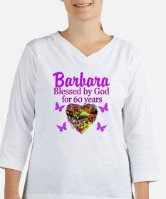 PRAYING 60 YR OLD Women's Long Sleeve Shirt (3/4 Sleeve) Spiritual and uplifting 60th birthday T Shirts and gifts for the faith filled 60 year old. http://www.cafepress.com/heavenlyblessings/12705776 #60yearsold #Happy60thbirthday #60thbirthdaygift #Christian60th #happy60th #Personalized60th #60thprayer