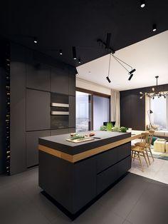 Https://www.behance.net/gallery/34206817/USS  · Contemporary  ApartmentContemporary DesignModern KitchensModern HomesContemporary  Kitchens ...
