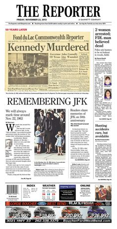 Wisconsin.   How Newspapers From All 50 States Remembered The Kennedy Assassination