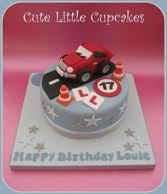 Birthday Cakes For Men, Boys 18th Birthday Cake, 1st Birthday Cake Smash, Cakes For Teenagers, Cakes For Boys, Car Cakes For Men, Teen Cakes, Girl Cakes, 18th Cake