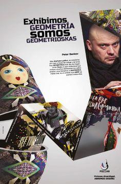 Afiche interior 2. Rusia y sus diseñadores. Trabajo de Diseño 4. Realizado con Ornella de Gregorio.