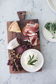 A Charcuterie Board + Sage Infused Ricotta — -