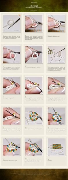 Crochet Beads - Photo Tutorial ❥ 4U hilariafina  http://www.pinterest.com/hilariafina/