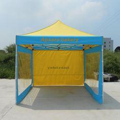 3x3M Aluminum Frame Folding Tent with Removable Transparent Sidewalls