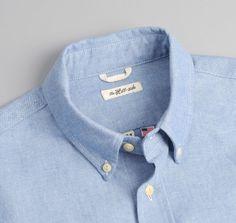SH1-285 - SELVEDGE OXFORD CLOTH BUTTON-DOWN SHIRT, BLUE :: HICKOREE'S