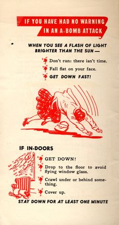 Vintage 1952 /'Duck /& Cover/' Nuclear Civil Defense Poster Available in 4 Sizes