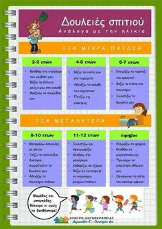 Δουλειές σπιτιού για παιδιά -  Homework-for-children School Lessons, Life Lessons, Parenting Advice, Kids And Parenting, Mommy Quotes, Greek Language, Exercise For Kids, Teacher Hacks, Raising Kids