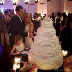 #cake #rustic #simple #ruffled #tiered