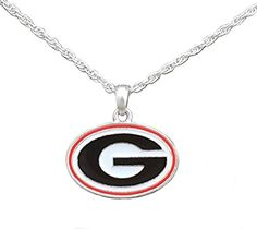 Silver Tone Necklace with Georgia Bulldogs Enamel Charm Sports Team Accessories http://www.amazon.com/dp/B00SVWFPXQ/ref=cm_sw_r_pi_dp_cHY1wb0MKQE0J