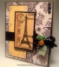 Card: Romantic Eiffel Tower Card