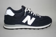 New Balance Classic 574 EncapTrainers Navy Blue Silver Mens Shoes NEW 9 UK 43 EU