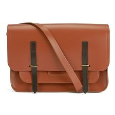 The Cambridge Satchel Company Men's Bridge Closure Bag - Russet with... (5,695 MXN) ❤ liked on Polyvore featuring mens and men's bags