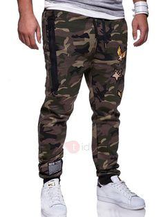 1e63d532c2dd Pantalon Casual Homme Sportif Camouflage Slim