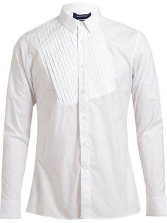 Mihara Yasuhiro Displaced Bib Tailored Cotton Shirt - Browns - Farfetch.com