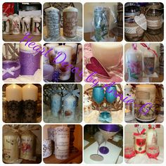Selection of work done by Heart Decor By Annie-G. Find me on Facebook. 💜
