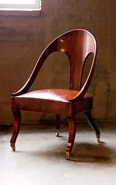 spoon back chair by Axel Vervoordt (also a wonderful wabi sabi style interior designer)
