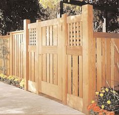 Fence gate with space between long slats