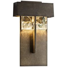 "Shard 14 1/4"" High Dark Smoke Large LED Outdoor Wall Light - #1T555 
