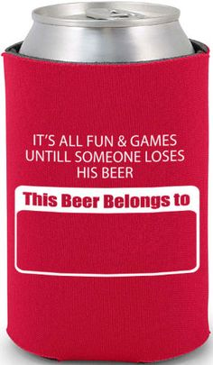 Haha! this would be good on the back of the koozie! Totally Wedding Koozies - bachelor design