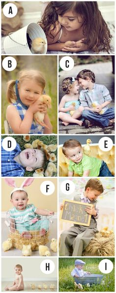 Easter photography session ideas- ummm.... how cute is the sign in #G?  Doing it!