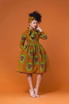 Shop Grass-fields African Print Pikine Midi Dress - Look effortlessly cool wearing the African Print Lisha Midi Dress, in stunning Colourful African print. African Fashion Designers, Latest African Fashion Dresses, African Inspired Fashion, African Print Fashion, Africa Fashion, African Shirt Dress, African Print Dresses, African Prints, African Clothes