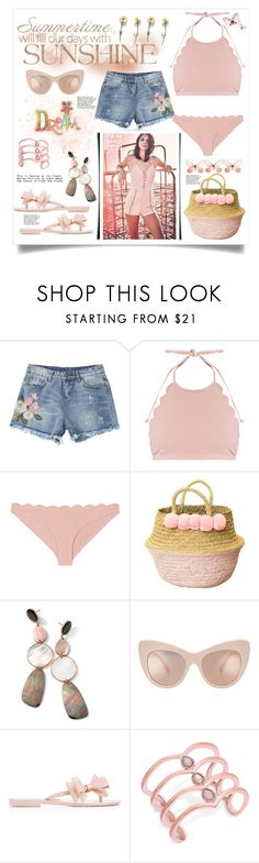 """summer months"" by jessicad110916 ❤ liked on Polyvore featuring Marysia Swim, Ippolita, Melissa and INC International Concepts"