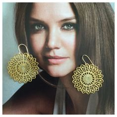 """Sunburst Filigree Round Fish Hook Earrings NWOT Beautiful Yellow 14k Gold Filled Earrings. Total Weight: 5.6 Grams.   Each earring measures approximately 1 1/4"""" in diameter. These earrings are new and have never been worn. Comes in original package and gift boxed. Thanks so much for stopping by!!!  Jewelry Earrings"""