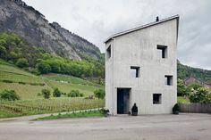 Haus Meuli, Fläsch, Switzerland.  Bearth & Deplazes.