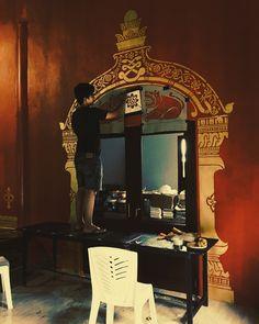 Laos, Temple, Mirror, Furniture, Home Decor, Homemade Home Decor, Mirrors, Temples, Home Furnishings