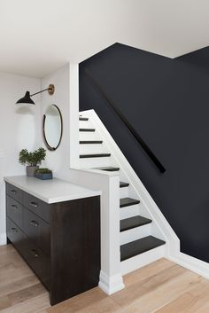 54 The Most Popular Staircase Design This Year For Interior Design Your Home Design # Interior Design Your Home, Home Garden Design, Best Interior, Modern House Design, Most Popular Paint Colors, Bedroom Paint Colors, Basement Paint Colours, Stairs Colours, Interior Stairs