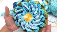 Passo a passo flor Iza em croche - YouTube