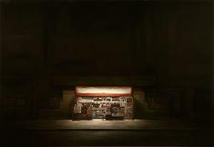 "LA Bodega by Dan Witz. 2010. 50 x 72"" oil and digital media on canvas"