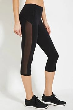 Active Mesh Capri Leggings | Forever 21 #forever21active