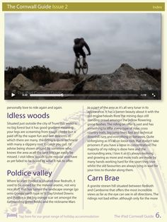 Video and feature on Mountain Biking in Cornwall from the Spring Issue of the iPad Cornwall Guide