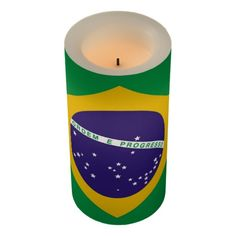 Brazil flag Brazilian flameless candle for those special holidays like 5th of May.