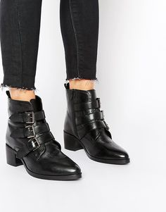 ac2da035f489 ASOS ROUNDABOUT Wide Fit Leather Ankle Boots Buy Shoes