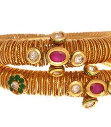 Buy Ethnic & Exquisite Gold Designer Bangle. bangles-and-bracelet online