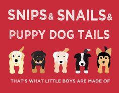 Nursery art print Boys nursery wall art Puppy dog Thats by Wallfry, $18.00