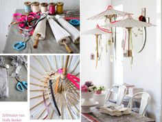 Great party umbrella DIY via Decor8