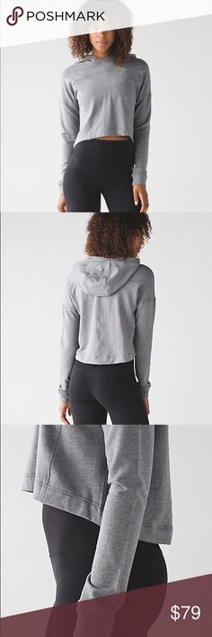 NWOT Rare Lululemon Ceremony Pullover Throw this soft, cropped layer on over sticky skin when you need to dash after class. Naturally breathable Stretch French Terry fabric is soft against your skin and has built-in stretch that moves with you. Worn maybe once, like new condition. Sold out on Lululemon.com!!! 🚨  oh-so-soft handfeel stretch naturally breathable lululemon athletica Tops Sweatshirts & Hoodies