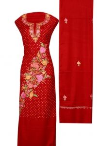 Red suit with salwar and dupatta